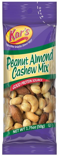 Kar's Nuts Peanut Almond Cashew, 1.75-Ounce Bags (Pack of 72)