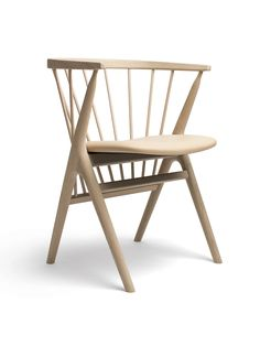 Designed by Helge Sibast in 1953, No. 8 is a Danish design classic -a beautiful piece of modern furniture, immediately recognisable by the characteristic Y-shaped legs, the floating seat and the press moulded back rest, all of which are crafted to the highest quality.Thischair is re-launched in oak withnew finishes that bring the original up to date while remaining true to its iconic design. The soap finish seen here leaves the wood looking very natural.Dimensions: H 71.5 cms x W 54.5…