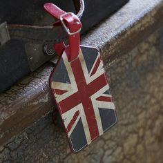 union jack luggage tag