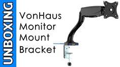 VonHaus Single Arm Monitor Mount Bracket Unboxing