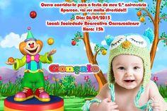 Convite digital personalizado Baby TV 011 com foto