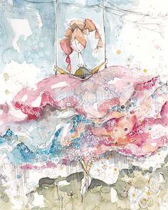 Swing Girl. Danielle Donaldson artist.
