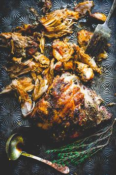 Slow Roasted Pork Shoulder with Fennel, Lemon and Rosemary | Entree | Dinner | Entertaining | Italian | Healthy Seasonal Recipes | Katie Webster