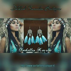 Beautiful feather earrings, available at https://www.oorbellenboutique.nl #earrings #feathers #featherearrings #handmade #madewithlove #delilahsieraden  #dreamcatcher #jewelry #musthave #bohochicstyle #gypsysouls #sieraden #beautiful #gypsy #native #nativeamerica