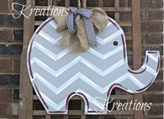 Hey, I found this really awesome Etsy listing at http://www.etsy.com/listing/164798244/chevron-elephant-door-hanger