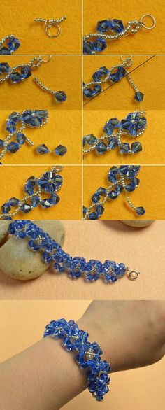 crystal beaded bracelet, like them? LC.Pandahall.com will publish the tutorial soon.    #pandahall