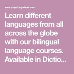 Learn different languages from all across the globe with our bilingual language courses. Available in Dictionary, Phrasebook, Audio CDs and Cassettes. Mexican Spanish, Dictionary Spanish, Serbo Croatian, Moroccan Arabic, Haitian Creole, Asturian, Different Languages