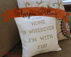 A Sharpie + a Pillow = Lovely Housewarming Gift