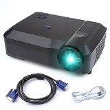 Vidéoprojecteur Crenova XPE650 HD Vidéoprojecteur Projecteur 3200 Lumens Résolution 1280768 Affichage vidéo 120 pouces supporte HDMI VGA USB SD entrée TV AV pour câble Home Cinéma  câble VGA HDMI