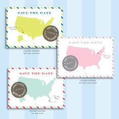 Love this, and based in Memphis! Vintage Postcard Save the Date by JPressDesigns on Etsy
