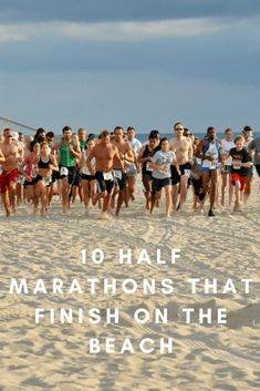 Running a race with the waves on one side and sand dunes on the other, and wind blowing all around, makes for a magical experience. Marathon Tips, Half Marathon Training, Marathon Running, Running A Mile, Running Tips, Trail Running, How To Start Exercising, Running Quotes, Just Run