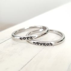 Hey, I found this really awesome Etsy listing at https://www.etsy.com/listing/252403040/personalized-ring-stacking-ring-tiny-2mm