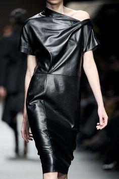 — Nicola Trussardi Leather dress
