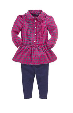 NWT Ralph Lauren Baby Girls 2 Pc Long Sleeves Top Paisley Tunic & Leggings Set  #RalphLauren #Dressy