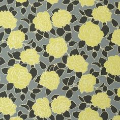 Desire Yellow Floral Wallpaper R1064