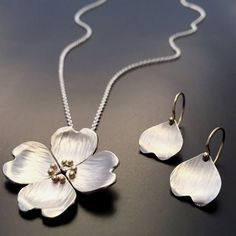 Image of Dogwood Pendant #JewelryDesign