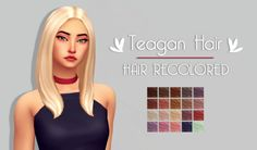 Just a simple simblr. - Teagan Hair | by @gohliad The original mesh is...