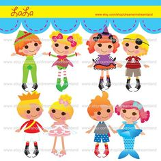 Printable Clip Art Digital PDF PNG File - Princess Lala Baby Girl -2 | wonderfuldreamland - Digital Art  on ArtFire