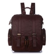 13'' Leather Backpack / Travelling Bag / by MooshiLeatherDesign, $99.99