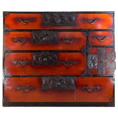 Meiji Period Japanese Kimono Chest | From a unique collection of antique and modern commodes and chests of drawers at https://www.1stdibs.com/furniture/storage-case-pieces/commodes-chests-of-drawers/