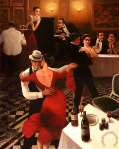 Chiu Tango II print for sale. Chiu Tango II painting and frame at discount price, ships in 24 hours. Cheap price prints end soon. Shall We Dance, Lets Dance, Tango Art, Tango Dancers, Creation Photo, Foto Casual, Argentine Tango, Dance Pictures, Dance Pics