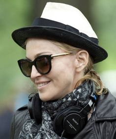 87b6659054 Madonna is wearing the Thierry Lasry  LIVELY  in black with gold temples  Madonna 80s