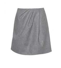 Carven Gray Flannel Skirt in Gray (anthracite)