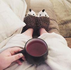 Black coffee and hedgehog slippers. This is how we roll. #tigerstores…