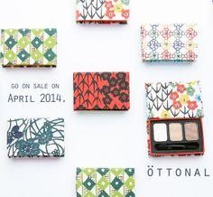 「OTTONAL」の京都の型染め和紙箱アイシャドウ