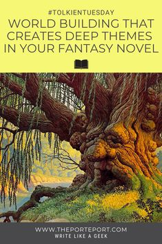 World building in your novel can quickly turn into an info-dump. To avoid this, give your story's world building purpose by introducing deep themes. Take these fiction writing tips examining how Tom Bombadil does this in The Lord of the Rings. #writingtips #writingadvice #novelwriting #fantasywriting #worldbuilding Book Writing Tips, Writing Words, Fiction Writing, Writing Prompts, Dialogue Prompts, Story Prompts, Writing Workshop, Writing Quotes, Writing Help