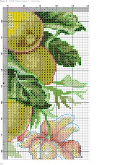 k 6 Cross Stitch Fruit, Cross Stitch Kitchen, Banner, Embroidery, Crafts, Stitch Patterns, Poppies, Cross Stitch Patterns, Frames