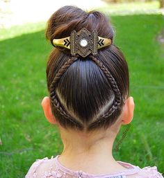Ideal Children's Hairstyles With a Combination of Pigtails. Hairstyles Girly Your Daughter will Love Girls Hairdos, Little Girl Hairstyles, Pretty Hairstyles, Braided Hairstyles, Peinado Updo, Childrens Hairstyles, Competition Hair, Little Girl Braids, Baby Girl Hair
