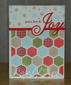 one liner dies, Happy Hexagons Stamp Set, Wonderful Words: Joy Stamp Set, and Shape Up Snowman Accessories,  PTI, Lex//Art