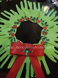 Dowman Guild Lahmann -- Handprint Christmas Wreath -- to do with the boys. Christmas Art, Christmas Holidays, Christmas Wreaths, Xmas, Toddler Christmas, Classroom Crafts, Preschool Crafts, Crafts For Kids, Holiday Crafts