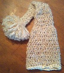 Newborn elf hat with satin trim