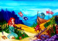 Under the Sea Watercolour on Card