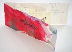 Thank you notes - Turn kid's art projects into thank you notes.