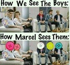 "Marcel""cute as a button every singel one of u"""