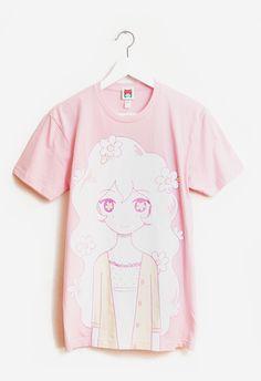 Daisygirl t-shirt - omocat k fashion, kawaii moda, visual kei, sevimli kıya K Fashion, Pastel Fashion, Lolita Fashion, Korean Fashion, Fashion Outfits, Fashion Styles, Looks Kawaii, Kawaii Cute, Grunge Goth