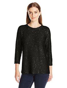 Anne Klein Women's Sequin Sweater - http://darrenblogs.com/2015/12/anne-klein-womens-sequin-sweater/