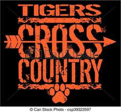 Vector - tigers cross country - stock illustration, royalty free illustrations, stock clip art icon, stock clipart icons, logo, line art, EPS picture, pictures, graphic, graphics, drawing, drawings, vector image, artwork, EPS vector art