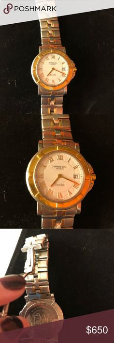 raymond weil parsifal 9530 used men's watch. Needs a battery. But other than that in great condition.   Put a stock photo of what it's selling for on other sites. Raymond Weil Accessories Watches