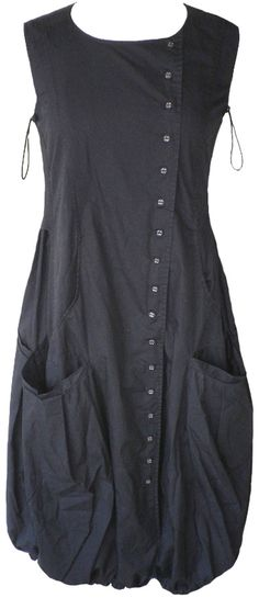 Rundholz (Black Label): Black cotton bubble dress