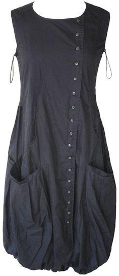 Rundholz (Black Label): Black cotton bubble dress