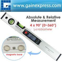 Digital Angle Finder Level 360 Degree Range Spirit Level Upright Inclinometer with Magnets Protractor Ruler