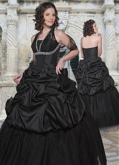 Ball Gown Halter Beading Satin Floor-length Quinceanera Dress at sweetquinceaneradress.com