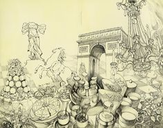 I want to experience the magic that is Paris...The architecture, the pastries, the history, all of the beauty...  ||  Paris Collage by FionaMeng.deviantart.com on @deviantART