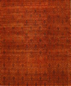 RugStudio presents ORG Tibetan Weave D-006 (90 Knot) Rust Hand-Knotted, Good Quality Area Rug