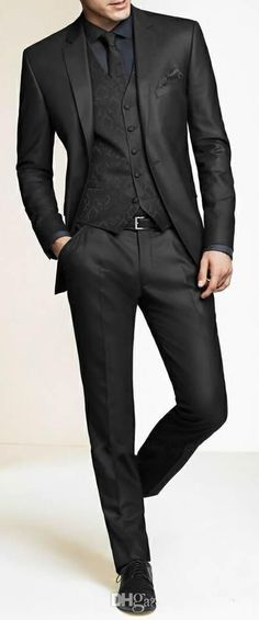 Men Slim Fit Suits Custom Made Charcoal Grey Groom Suit, Bespoke Tailor Wedding Suits For Men, Mens Wedding Tuxedos Suits H67 Best Tuxedos For Prom Black Tuxedo Black Shirt From Liguoshop666, $78.58| Dhgate.Com