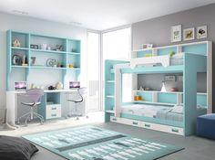Dormitorio juvenil / Youth bedroom http://www.decorhaus.es/es/ #muebles #Málaga